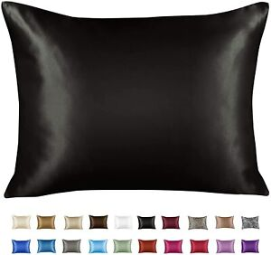 Luxury Satin Pillowcase with Zipper,  (Silky Pillow Case for Hair and Skin)
