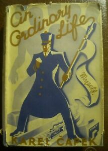 CAPEK An Ordinary Life (Karel Capek - 1936) FIRST UK EDITION IN WRAPPER SCARCE