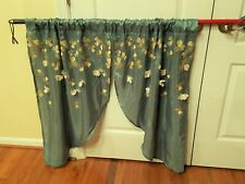 Window curtains Lush Decor Blue-Grey Swags