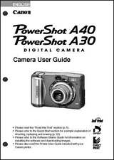 Canon Powershot A30  A40 Digital Camera User Guide Instruction  Manual