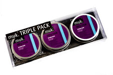 Filthy Muk Triple Hair Wax Gift Pack 3x Tins of 50g Firm Hold Paste (£6.58 each)
