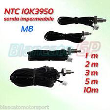 Sonde Étanche Ntc 10K 3950 M8 Acier Inoxydable A2 Thermistance Capteur