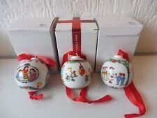 3 Hutschenreuther Weihnachtskugeln__1996-97-98__6cm__Kugeln !