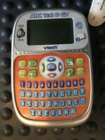 Vtech ABC Text and Go Educational Handheld Game System Visual Sound Tested Works