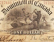 1898 Canada $1. Courtney Series K. ONEs Outward On Reverse. Valuable Banknote.