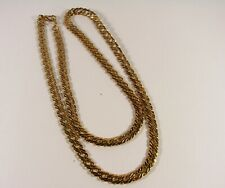 14 KARAT GOLD PLATE HEAVY LONG CHAIN NECKLACE