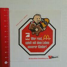 Aufkleber/Sticker: Gegen Raser - Mc Donald's - Pro Sieben (06071665)