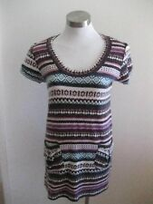 Ladies Multi-Coloured Knit Capped Sleeve Dress Size S