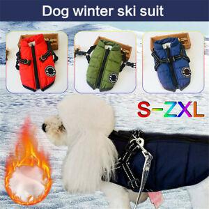 Winter Warmer Waterproof Jacket Dog Vest Puppy Harness Padded Coat Pet Clothes