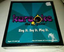 Teen/Family Board Game Karaoke Pop Rock Oldies 2+ Players Age 12+ Brand New