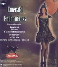 Witch Emerald Enchantress Halloween Costume Hat Headband Adult Med SZ 8-10 NEW