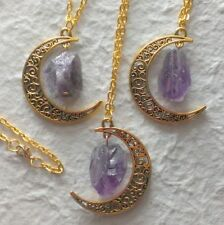 Unbranded Amethyst Stone Fashion Necklaces & Pendants