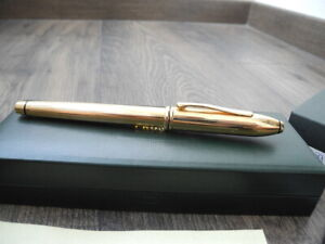 CROSS 10KT Gold Filled Rolled ROLLERBALL PEN SET NOS NEW