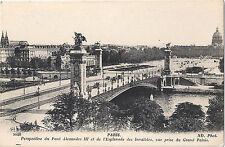 CPA Carte Postale Ancienne Paris Perspective du Pont Alexandre III