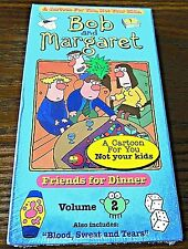 Bob and Margaret - Vol. 2 - Friends For Dinner (VHS, 1999) Cartoon Not For Kids