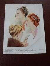 ART DECO HAIR Stylists ILLUSTRATION recent find in French SALON amazing  l