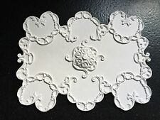 "Cp69 SOFFITTO PANNELLO 11 3/8 ""x 8 5/8"" GESSO replicast Miniatures DOLLS HOUSE"