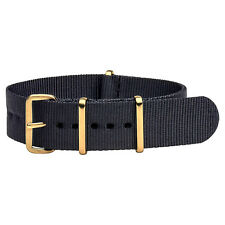 Yellow Gold Premium Nato Nylon Replacement Watch Strap Band