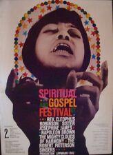 SPIRITUAL AND GOSPEL FESTIVAL 1967 German A1 Concert poster GUNTHER KIESER