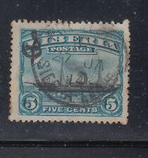 Liberia # O61 USED Freeport Sierra Leone fULL Date 27 JA 14  SHIP