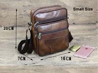 Vintage New leather Mens small shoulder messenger bag Boys Gift Crossbody bags