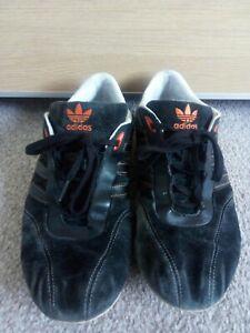 Adidas Porsche Design Black Suede & Orange Trim Retro Trainers. UK Size 9.