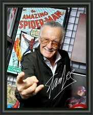 STAN LEE  A4 SIGNED AUTOGRAPHED PHOTO POSTER  FREE POST
