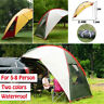 Large 3-4 Person Camping Tent Waterproof Outdoor Hiking Shelter Backpack Fishing