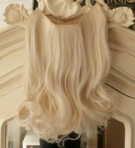 Hair Extensions Layered Thick Full Head One Piece With Wire Platinum Blonde 225g