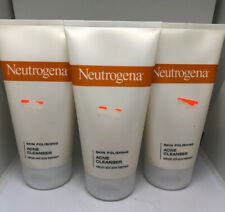 (3) Neutrogena Skin Polishing Acne Cleanser 5.1 oz Each EXP 5/16