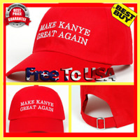Make Kanye Great Again Dad Hat Baseball Cap Unstructured Hip Hop New - Red