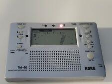 Korg Tm-40 Digital Tuner/Metronome Combo - Tested & Working