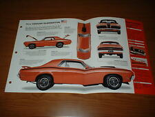 ★★1970 MERCURY COUGAR ELIMINATOR ORIGINAL IMP BROCHURE SPECS INFO 70 XR7 XR 7★★