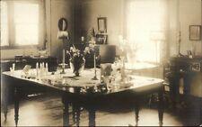 East Gloucester MA Dining Room of Inn (Written on Back) Real Photo Postcard