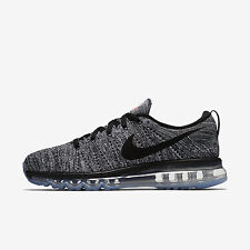 NIKE FLYKNIT AIR MAX WHITE/BLACK RUNNING SHOE 620469-105 SIZE 10.5