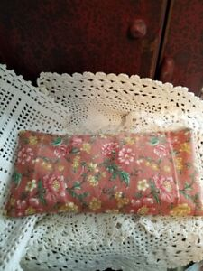 vintage floral print UNSCENTED  eye pillow CAN HELP STIFF NECK TOO
