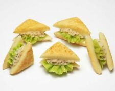 Set of 5 Dollhouse Miniature Tuna Sandwiches * Doll Mini Food Bakery Bread Salad