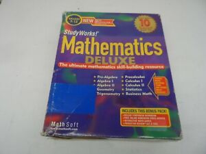 Mathematics Deluxe by StudyWorks! for Windows 95,98,NT, 2000 + CD-ROM