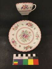 Booths Tea Cup & Saucer For Charles Lynce, Boston Chinese Export Lowestoft Style