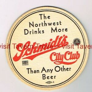 "1930s ""Northwest Drinks More"" MINNESOTA St Paul SCHMIDT BEER 3½"" Tavern Trove"