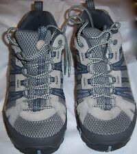 MERRELL Tan and Gray Air-Cushion Sticky Rubber Sole Hiking Walking Shoes Size 9