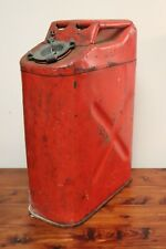 Vintage 1974 USMC Red 5 Gallon Gas Can Fuel Blitz Jerry Jeep Truck Military