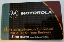 Motorola 5 Minute Phone card,  free shipping