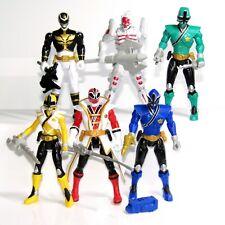 Power Rangers 10cm Toy Figure Set  (Dekar Alien, Red Black Green Blue Yellow)