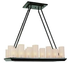 18 Light Oil Rubbed Bronze Modern Candle Style Chandelier