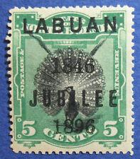 1896 LABUAN NORTH BORNEO 5c SCOTT# 69 S.G.# 86 UNUSED CS05078