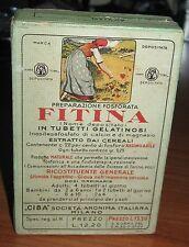 """Scatola in cartone Preparazione fosforata FITINA """"CIBA"""" - anno 1937"""