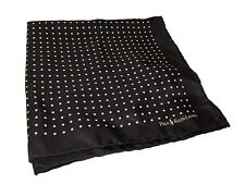 Ralph Lauren Black Polo Silk Handkerchief White Polka Dot Tuxedo Pocket Square