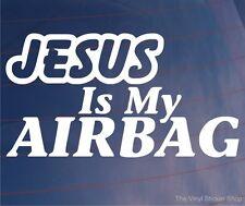 Jésus est mon airbag RELIGIEUX DRÔLE VOITURE / FOURGONNETTE / Pare-chocs / Fenêtre Jdm Euro Autocollant Vinyle