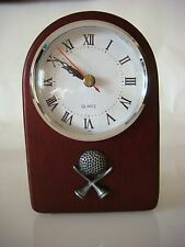 DISPLAY Master's Choice Keepsake Solid Rosewood/Pewter World of Golf Clock(B421)